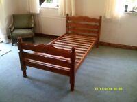 Pine Single Bed Frame ( sorry No Mattress )