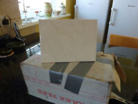 Glazed Italian Ceramic Tiles, 8in x 6in, White with Slight Fawn Marbling Pattern 1Bx of 50