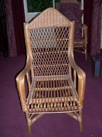 Set of 6 x Wicker chairs