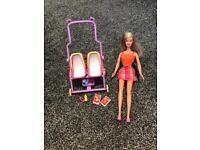 Barbie with Pram