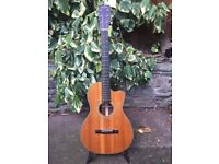 Recording King RP2 626 C- solid spruce, mahogany, h/case cutaway Ac guitar