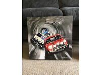 Mini Cooper Italian job box canvas