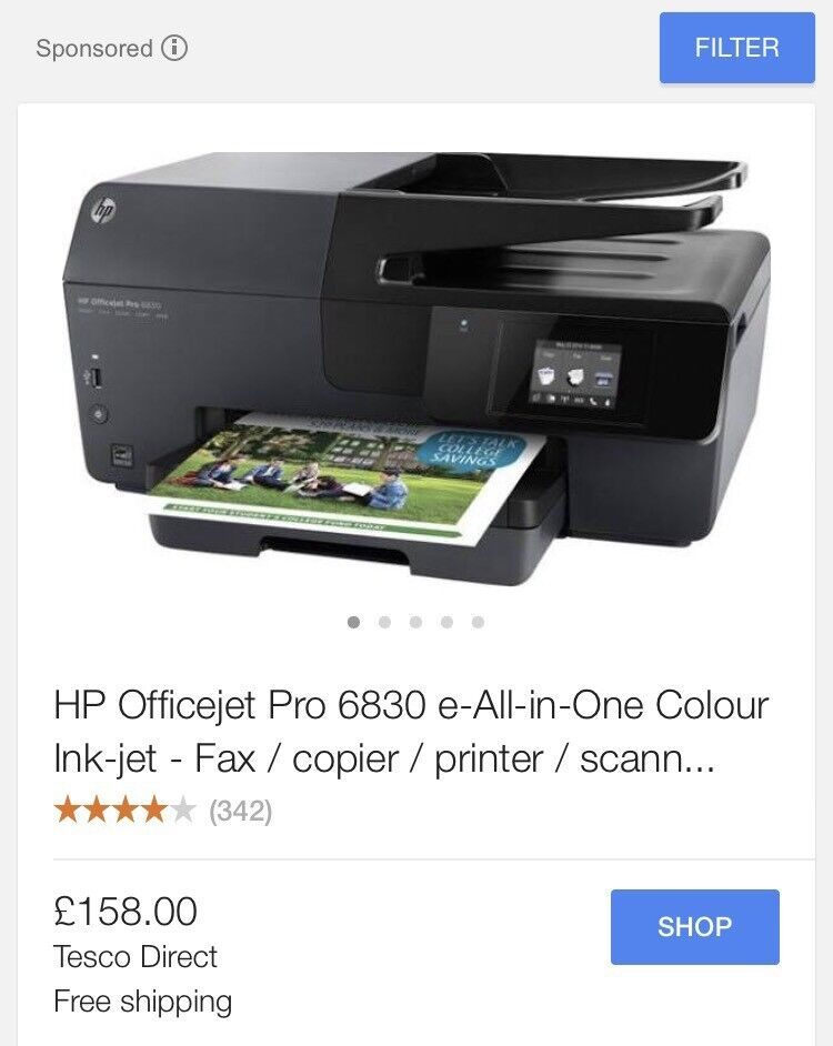 HP OFFICEJET PRO 6830 PRINTER RRP159 COMES UP WITH ERROR MESSAGE ON PRINTER HEADin Basford, NottinghamshireGumtree - HP OFFICEJET PRO 6830 PRINTER RRP £159 COMES UP WITH ERROR MESSAGE ON PRINTER HEAD