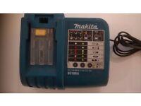 Makita Li-ion (& Ni-MH) Power Tool Battery Charger for 7.2 - 18 volt batteries - model DC18RA