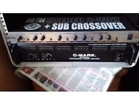 US Blaster + subcrossover USB7704 stereo 2 way + crossover