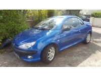 peugeot 206cc 1.6 spares or repair