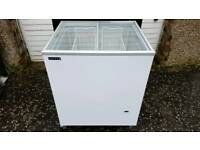 ice cream freezer sliding lid
