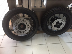 Never used tires and rims from 2015 Triumph Scrambler