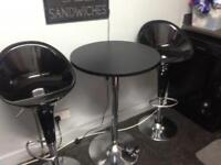bar table and chairs