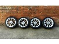 "17"" BMW alloys with good tyres"