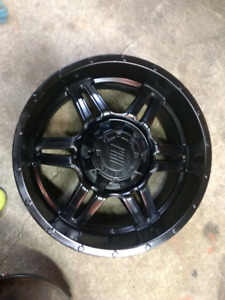 20x9 Satin Black Wheels (Fits Dodge 1500)