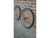 26 inch front/rear wheels,tyres/cassete