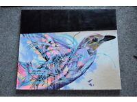 Modern Art Graffiti Bird Painting