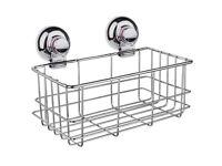 Stainless Steel Shower Caddy Shelf Rustproof Waterproof Vacuum Suction Bathroom