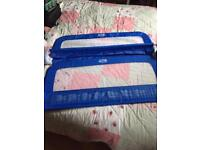 Double blue safety bed rails - hardly used