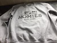 Homies New York grey jumper size small
