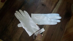 vintage cotton gloves still with tags