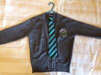 Howard Park grey cardigan and tie