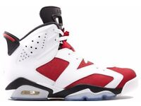 Nike Air Jordan 6 Retro 'Carmine' Size 8 10 Brand New