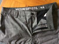 Brand New Silver Men's Shorts, Waist 38
