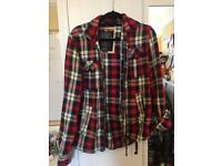 Super dry shirt jacket size small