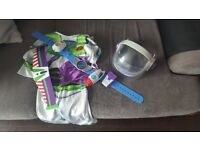 Buzz lightyear space ranger helmet belt costume fancy dress kids boys