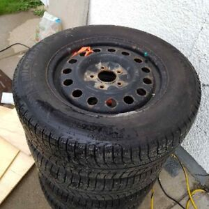 WINTER WHEELS AND TIRES PACKAGE, LIKE NEW 225/60/R16