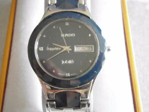 EXCELLENT SWISS SAPPHIRE WATCH WITH  DATE/DAYS