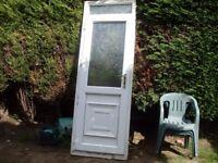 nice upvc door with top skylight all glass complete
