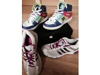 Trainer Bundle, Adidas Trainers & DC Hightops (will sell separately)