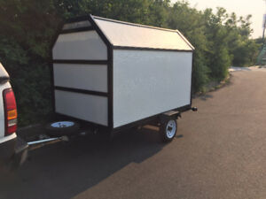 Convertible Enclosed/Stake side/Flat deck trailer $2500 or trade