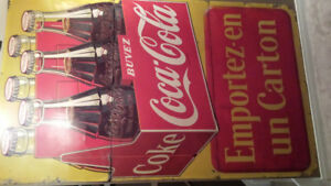 1950 coca cola sign ( on hold p/p )