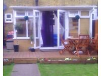 USED WHITE UPVC LEAN TO DOUBLE GLAZED CONSERVATORY 4.5M x 3.1M