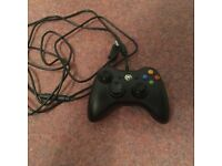 Black XBOX 360 Wired Controller Excellent Condition