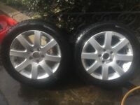 Vw imola 16 inch alloy wheels with tyres Volkswagen vag mk5