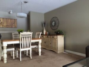 Dining room table, 4 chairs and Buffet
