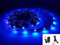 New 12V Real UV (Ultraviolet) 5 Meters Strip Light, 150 x SMD5050 LEDs + 12V Power Adapter