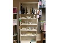 Large bookcase/shelves.
