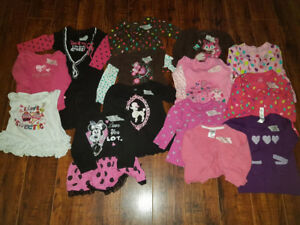 Size 6-12 months except the purple heart long top/ dress