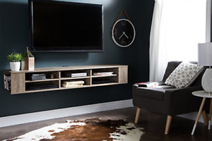 new 66 Inch Wall Mounted Media Console