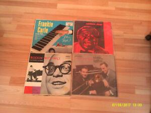 4 disques vinyles de Jazz des années 50 rétro