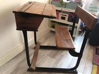 Old school desk great condition desk table collectable furniture vintage stunning