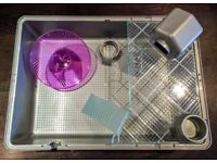 Ferplast Mini Duna Hamster Cage Grey - New! + Extras - Worth £51 in total