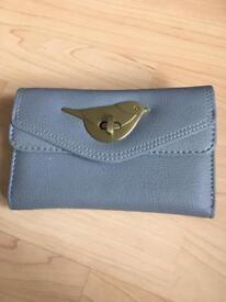 Grey bird purse - brand new