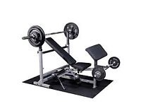 Olympic Weight bench, mat and weights