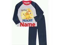 Personalised kids Pyjamas ANY name LOTS of characters and FREE UK POSTAGE