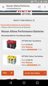 Nissan altima car battery