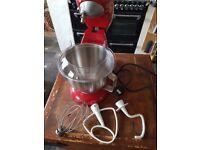 kenwood patissier mixer red
