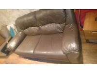 brown sofa three seater