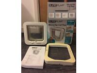SureFlap microchip catflap pre owned white